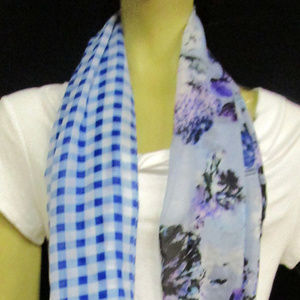 Cejon Accessories - Cejon Scarf Multi Blue One Size